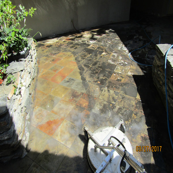 Decorative Concrete-Stone Cleaning Pressure Washing
